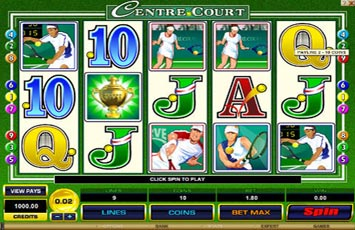 center court tennis slots