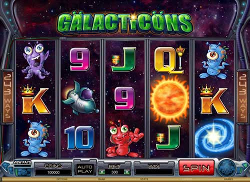 Galacticons Microgaming Video Slot