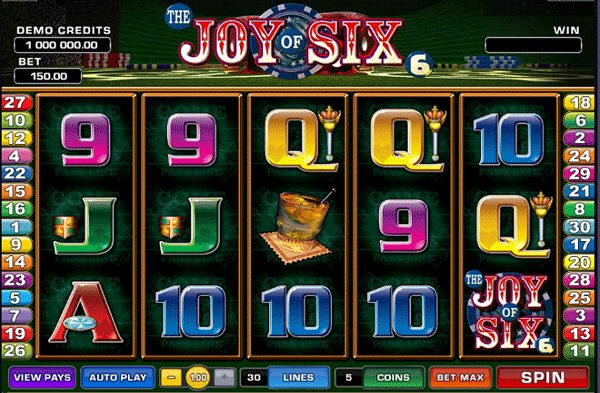 the joy of six slot game
