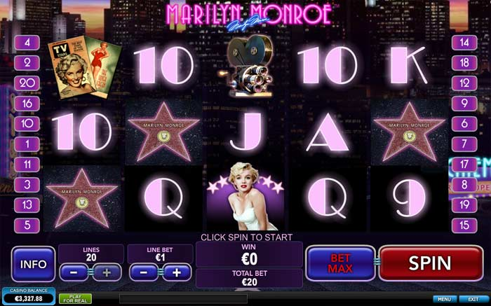 Marilyn Monroe Video Slot