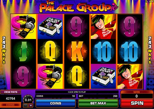 palace groupie video slot machine