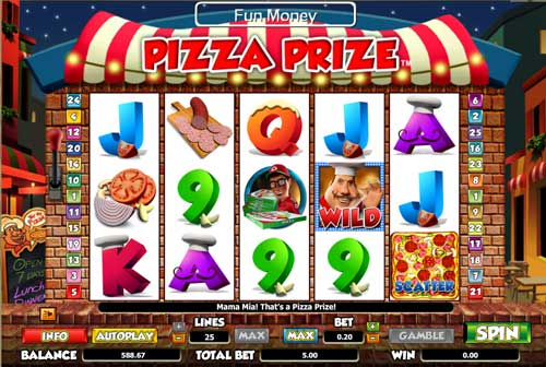 pizza prize online slots game