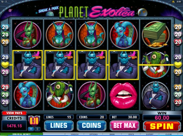 planet exotica online slots